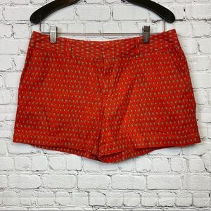LOFT Orange Linen Blend Shorts